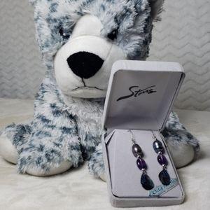 NIB Wild Pearle Abalone pierced earrings